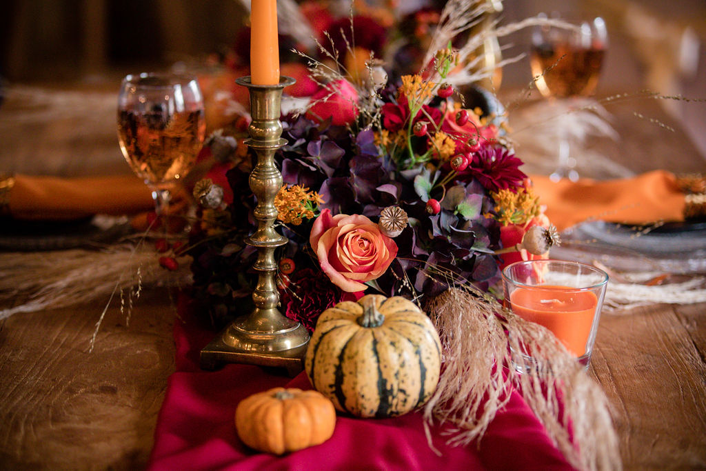 autumn wedding flowers - halloween wedding flowers