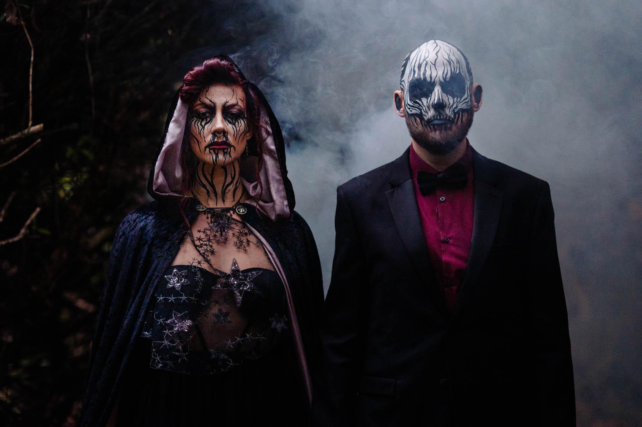gothic wedding - halloween wedding - halloween wedding makeup