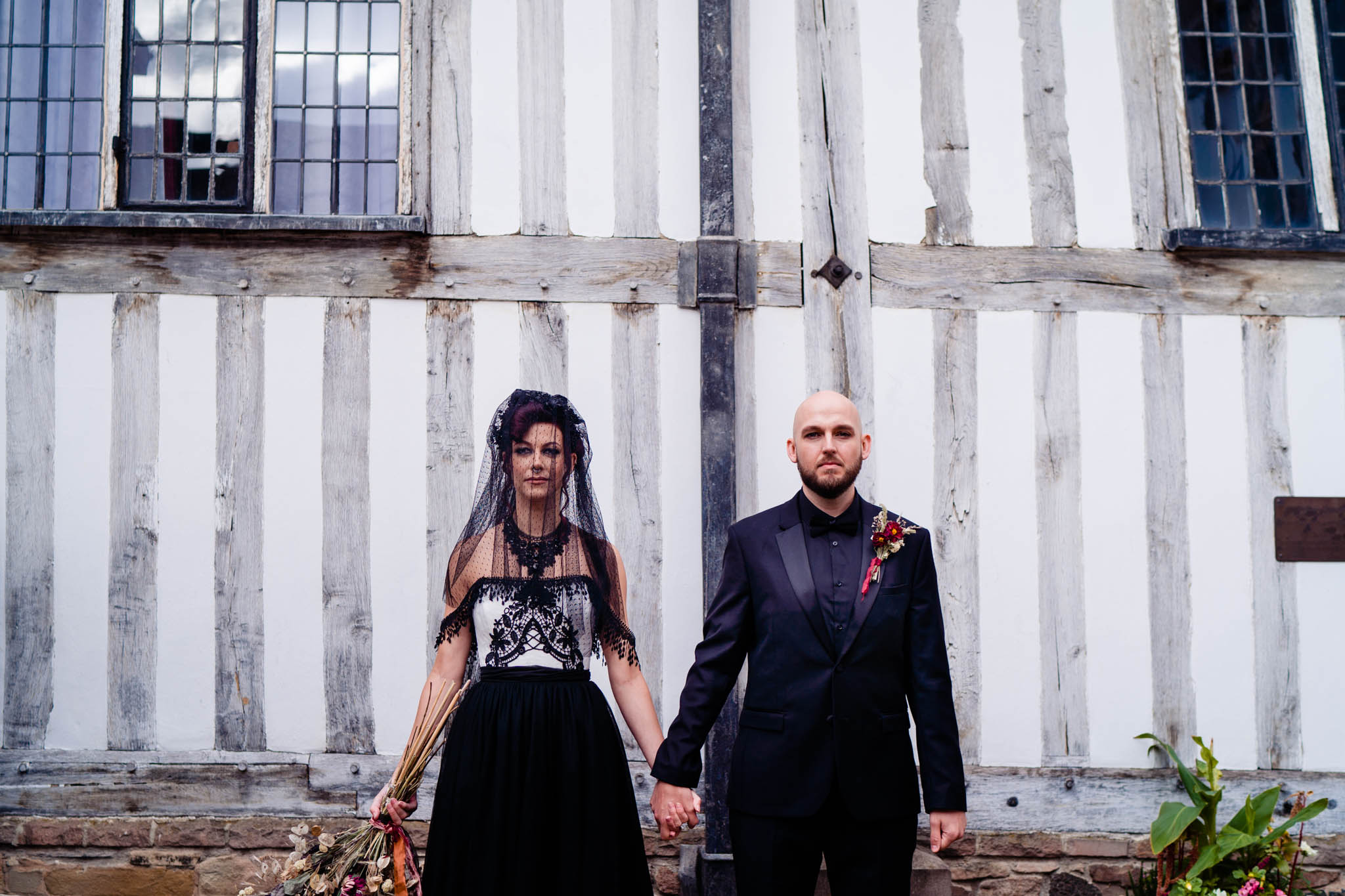 elegant gothic wedding - gothic wedding - autumn wedding - alternative bridal wear