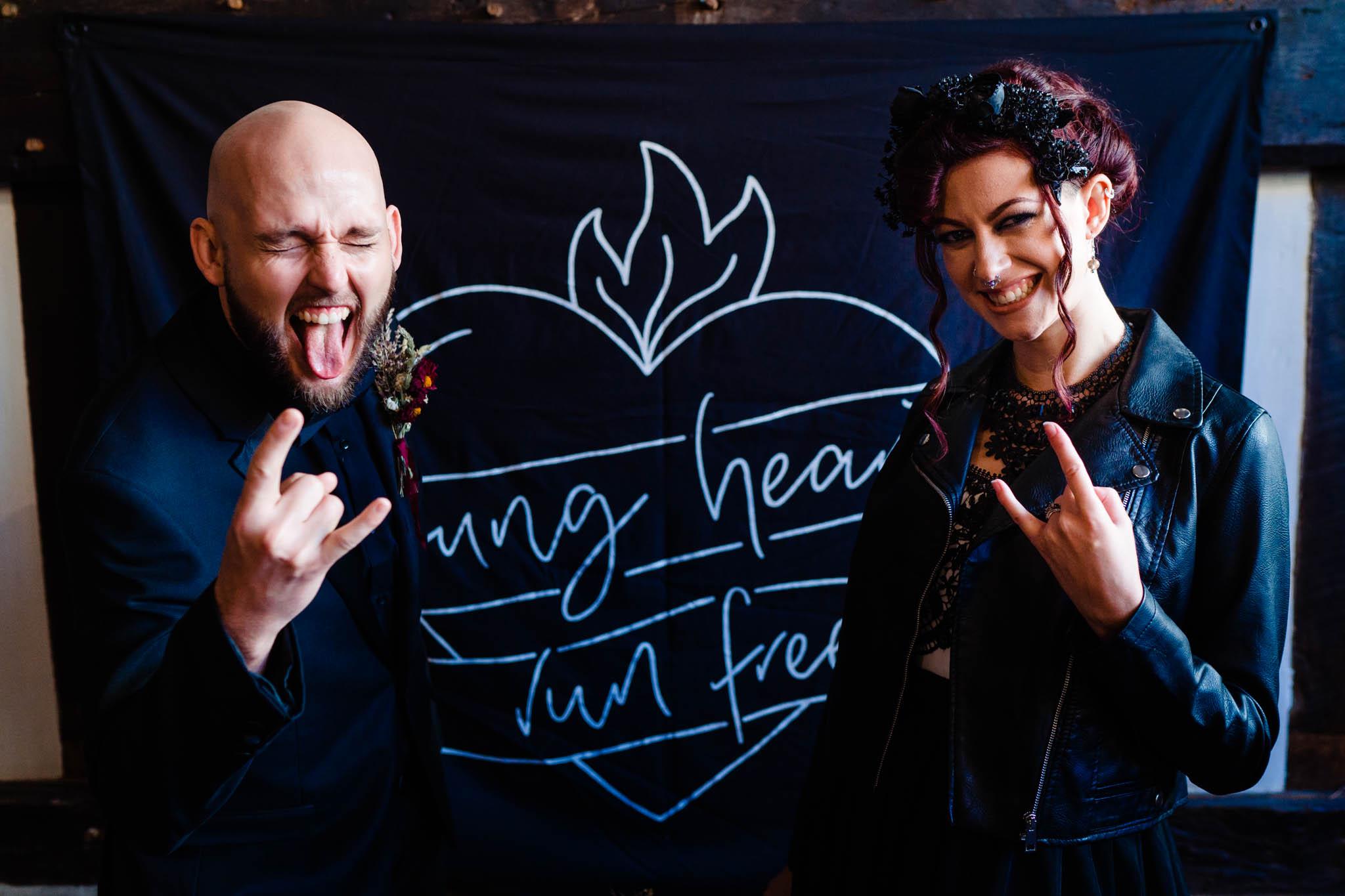 elegant gothic wedding - gothic wedding - autumn wedding - young hearts run free sign