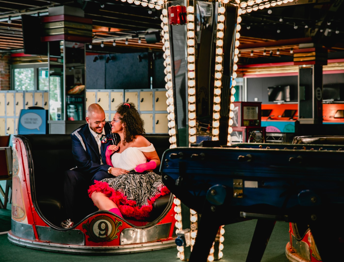 80s themed wedding - funfair wedding - quirky wedding - fun wedding