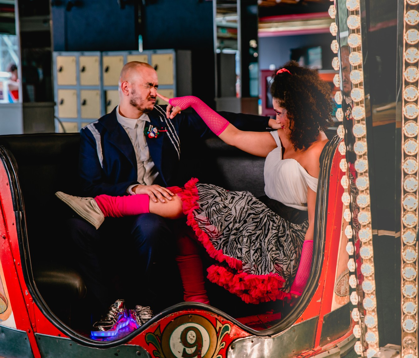 80s themed wedding - funfair wedding