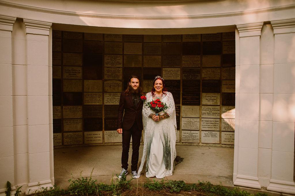 arnos vale wedding venue - cemetery wedding