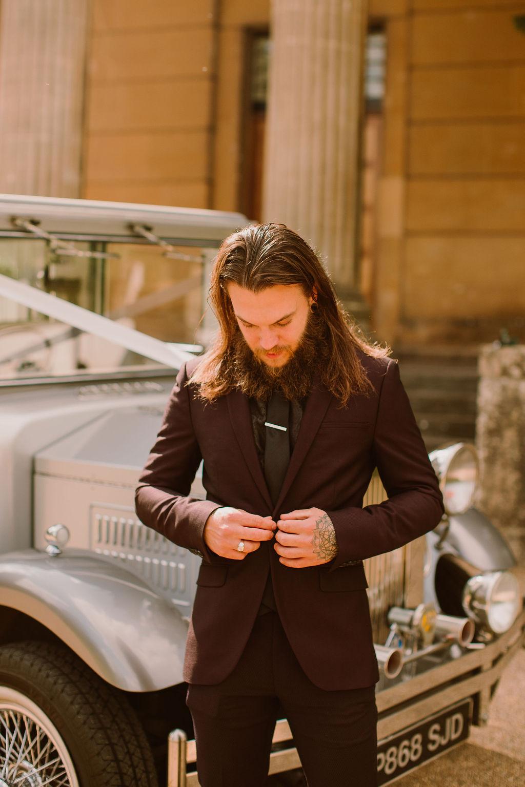 black groomswear - alternative groom - alternative groomswear