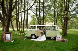 wedding camper van - camper van photo booth - festival wedding ideas - buttercup bus - unconventional wedding