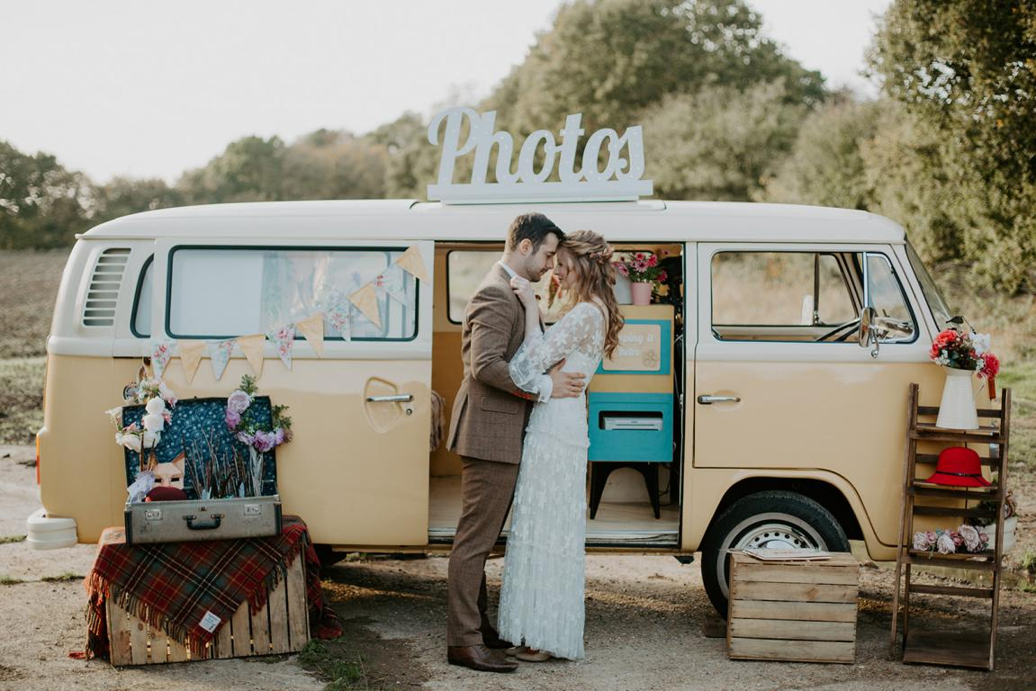 buttercup bus - campervan photobooth - wedding photobooth - kent wedding photo booth - surrey wedding photobooth - quirky wedding photo booth