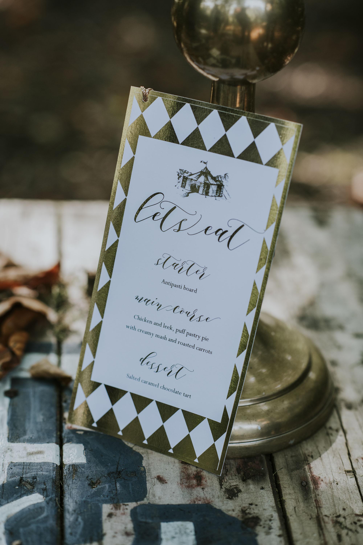 circus wedding invitations - gold wedding stationery - unique wedding stationery