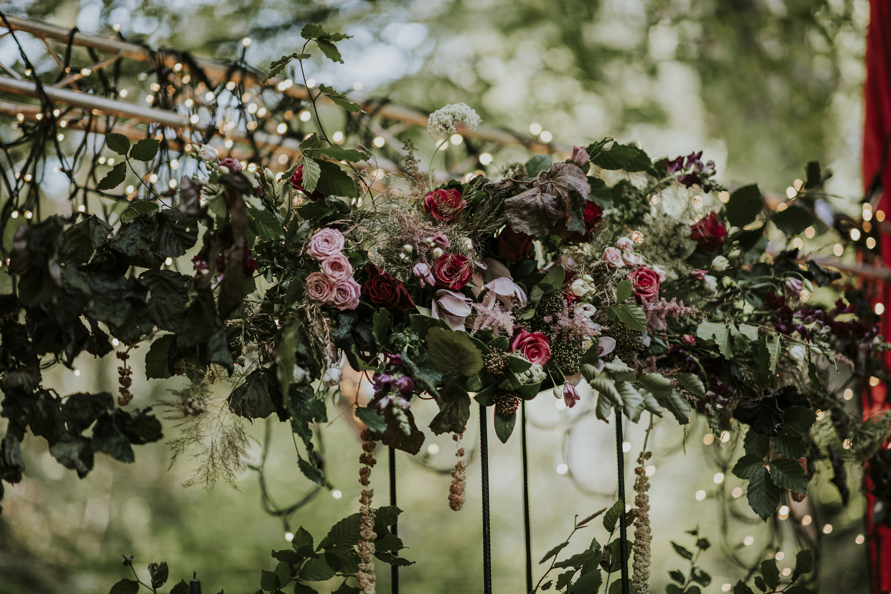 bohemian wedding flowers - pink and red wedding flowers - magical wedding flowers