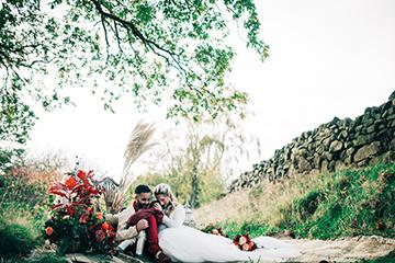 boho luxe wedding - multi cultural wedding - family wedding photoshoot