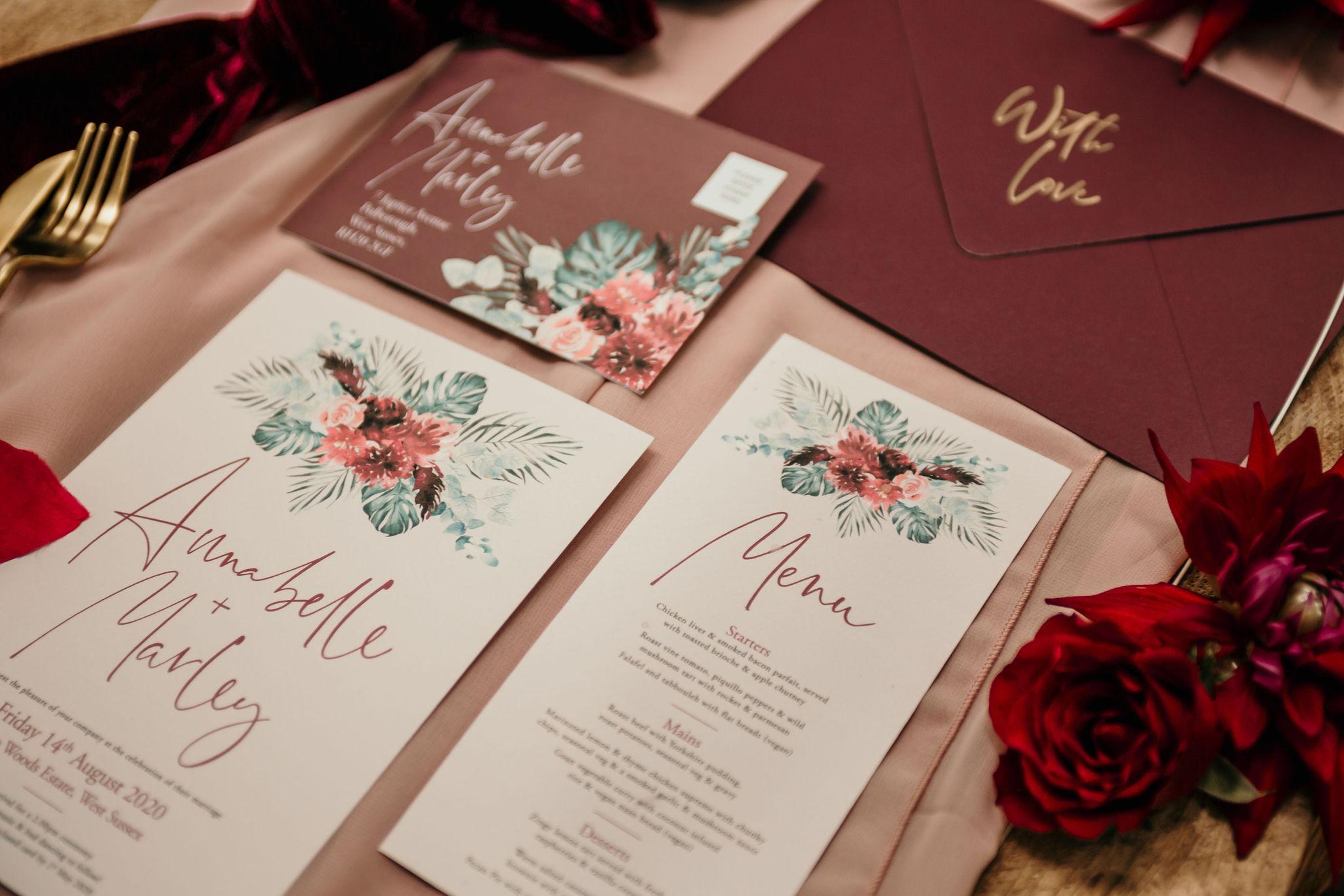 modern wedding stationery - elegant wedding stationery - bespoke wedding stationery