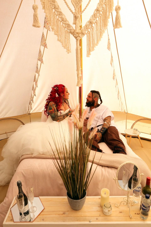 festival viking wedding - alternative wedding inspiration - unconventional wedding - alternative wedding blog - wedding glamping