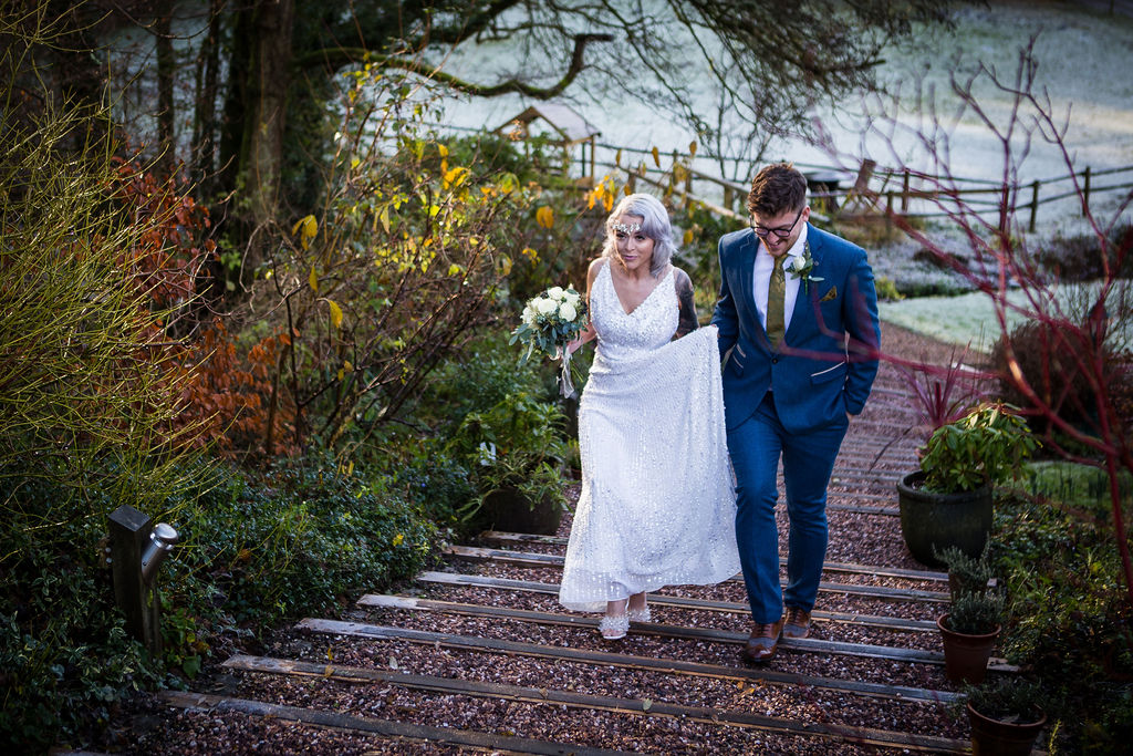 winter elopement - simple wedding - pandemic wedding - small wedding