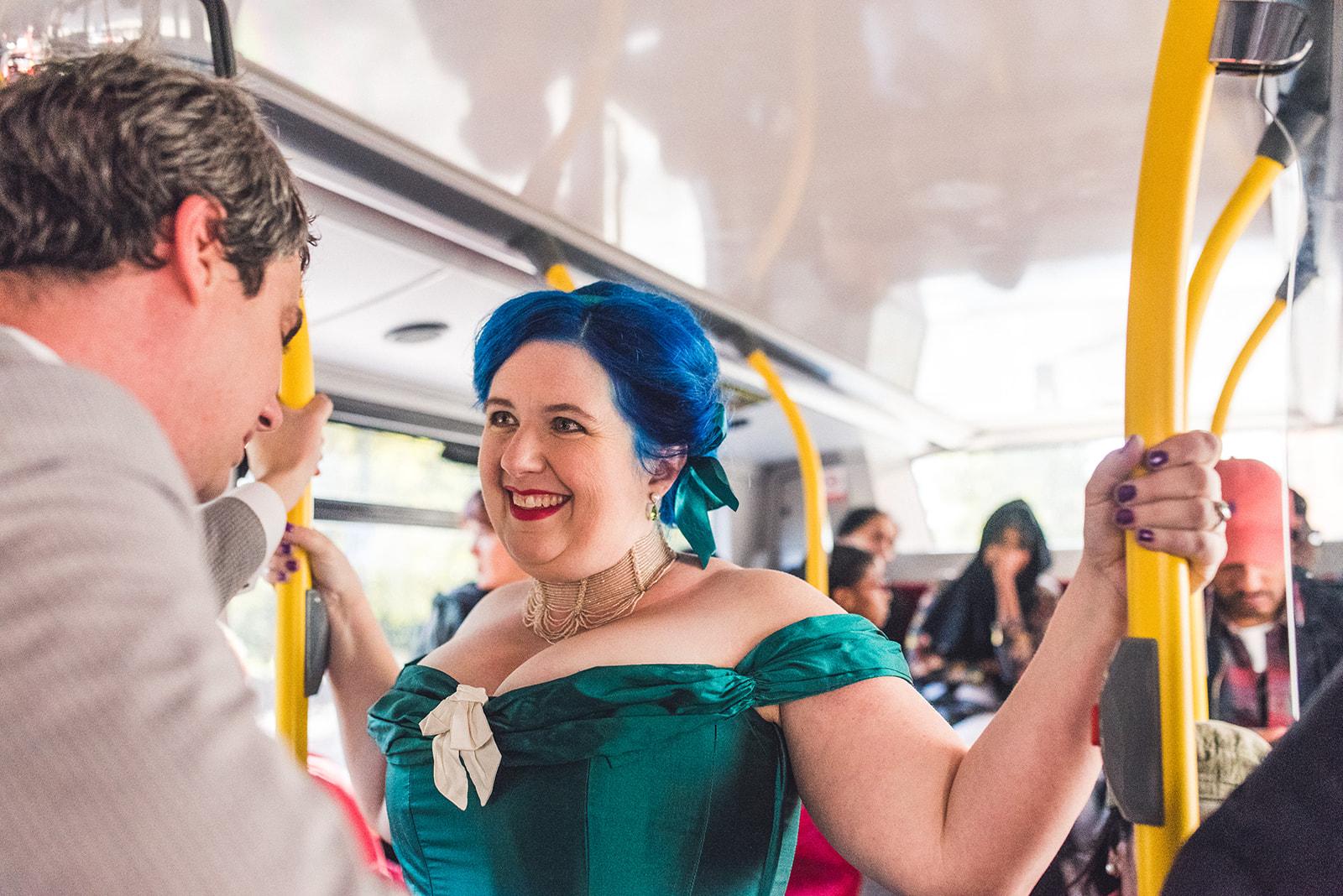 unique wedding transport - wedding london bus - fun wedding ideas - unconventional wedding
