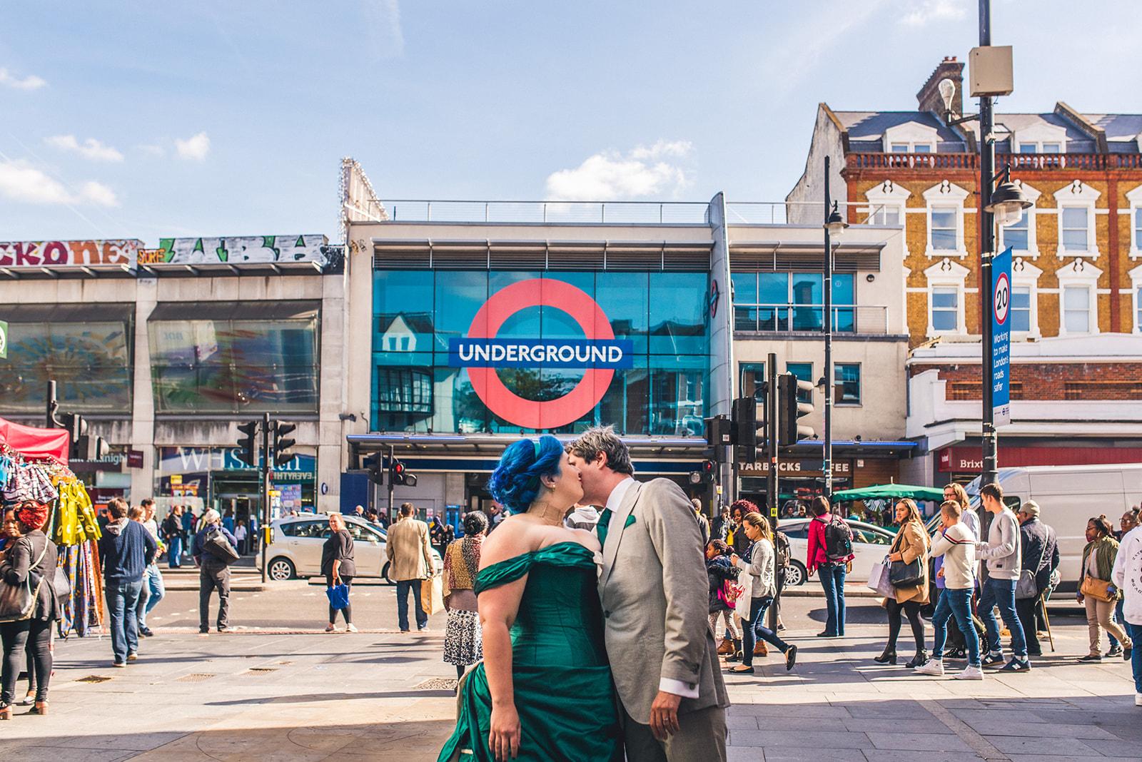 london wedding - wedding photos by the london underground