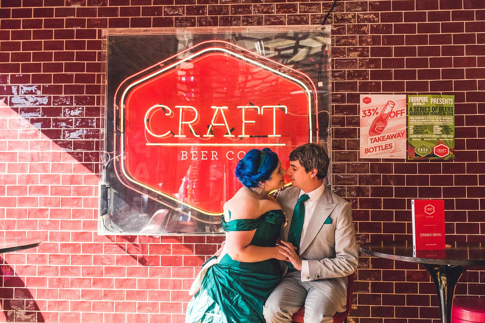 fun wedding photos - london wedding - unique wedding ideas