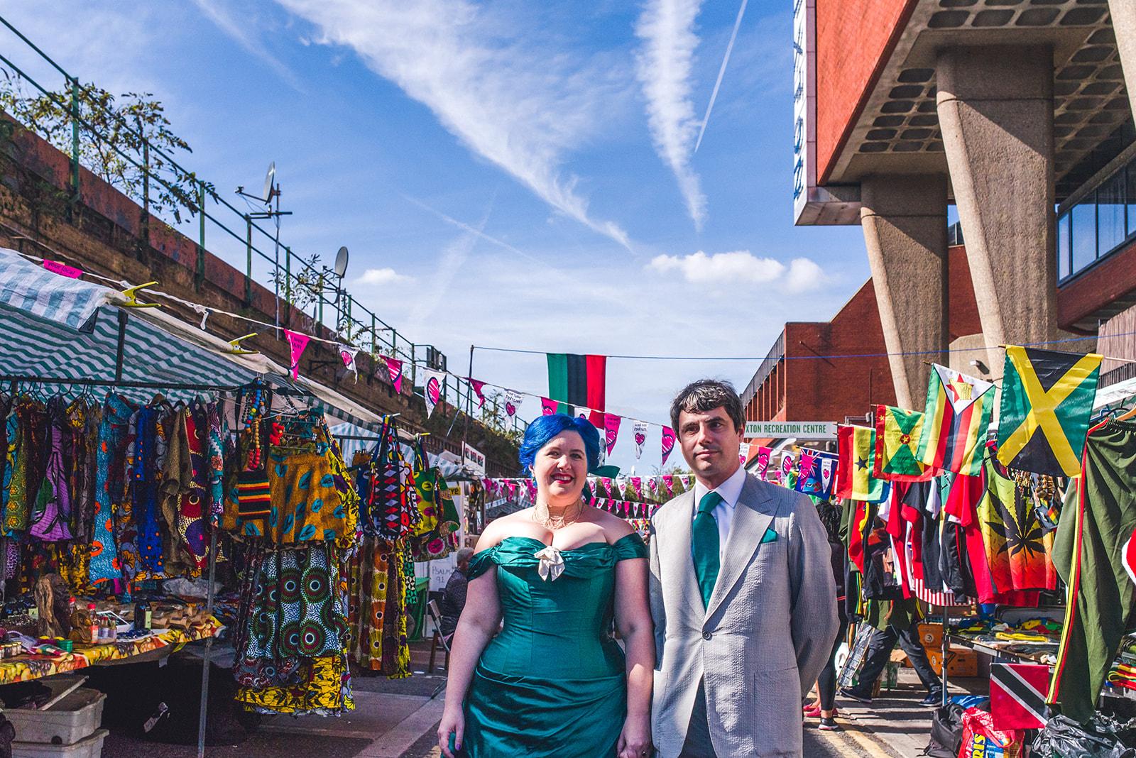 london market wedding photos - fun wedding - unconventional wedding