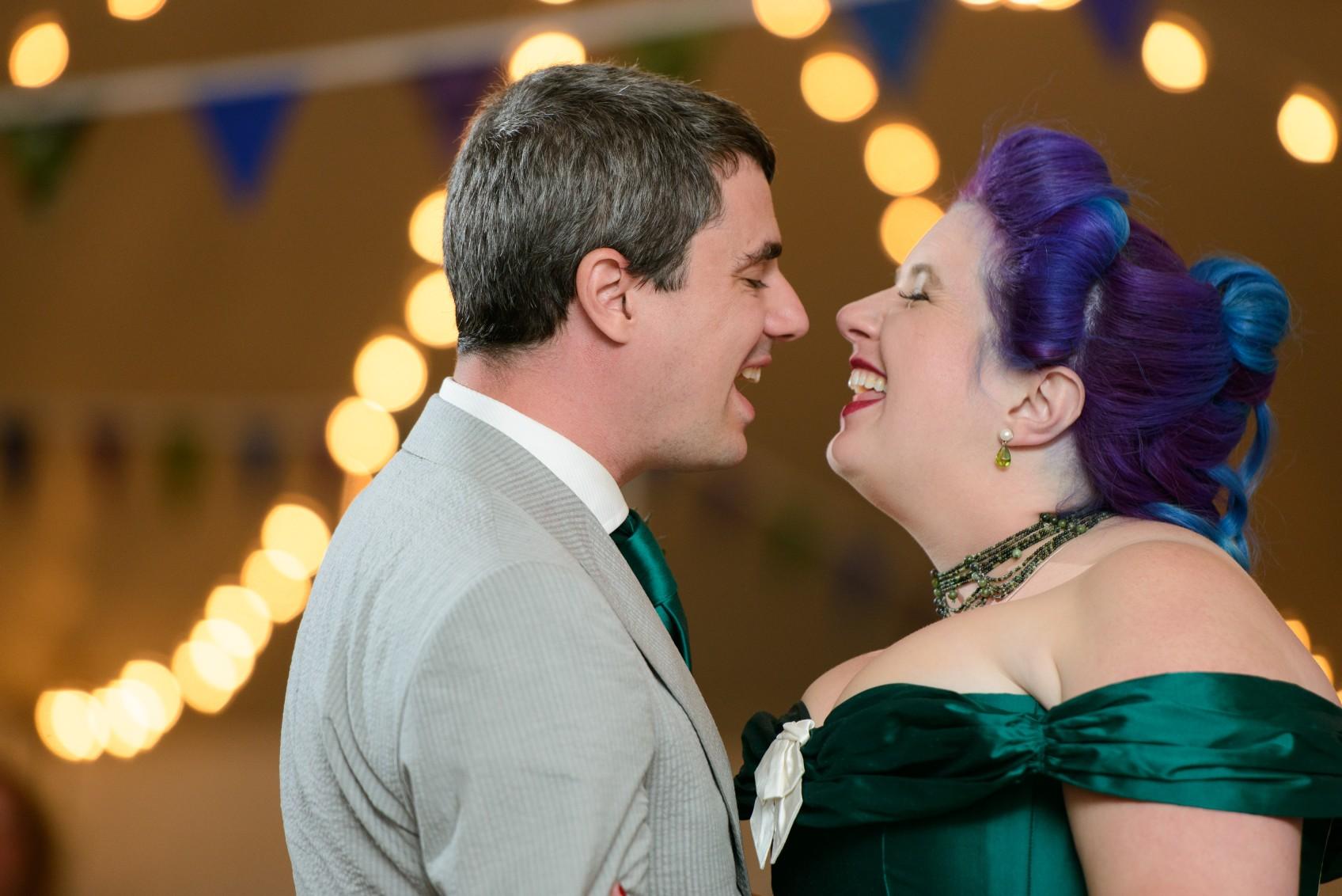 happy wedding photo - fun wedding day - alternative wedding - unconventional wedding