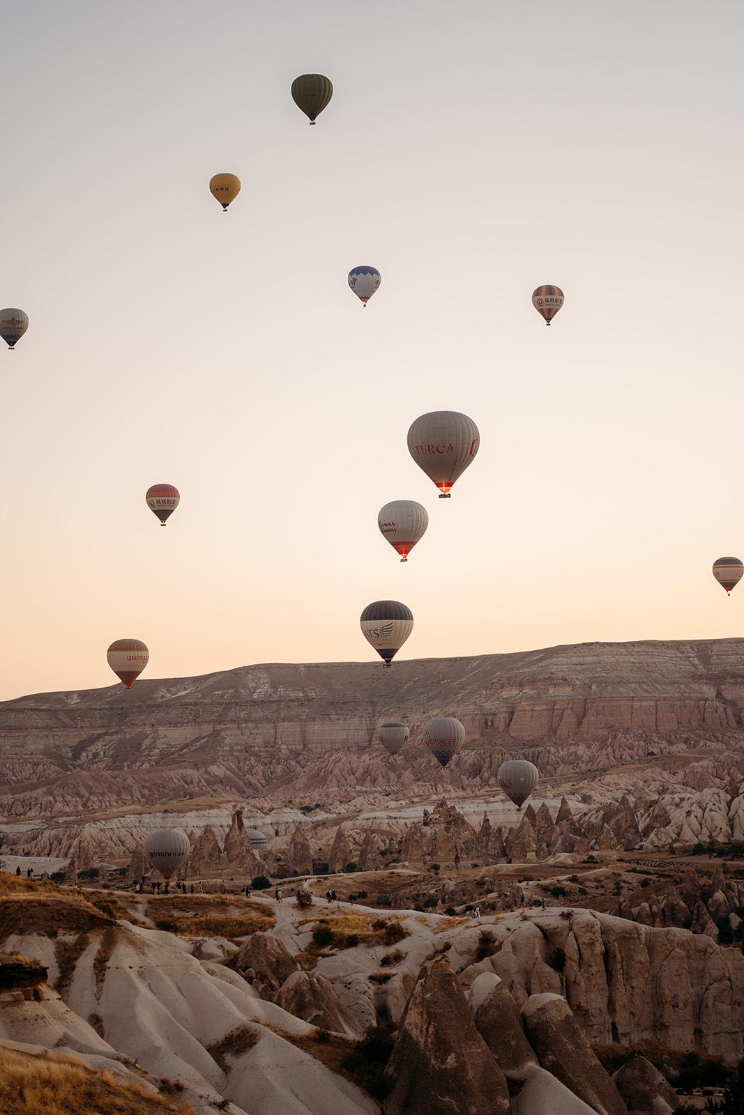 hot air balloons in cappadocia, turkey - beautiful elopement location