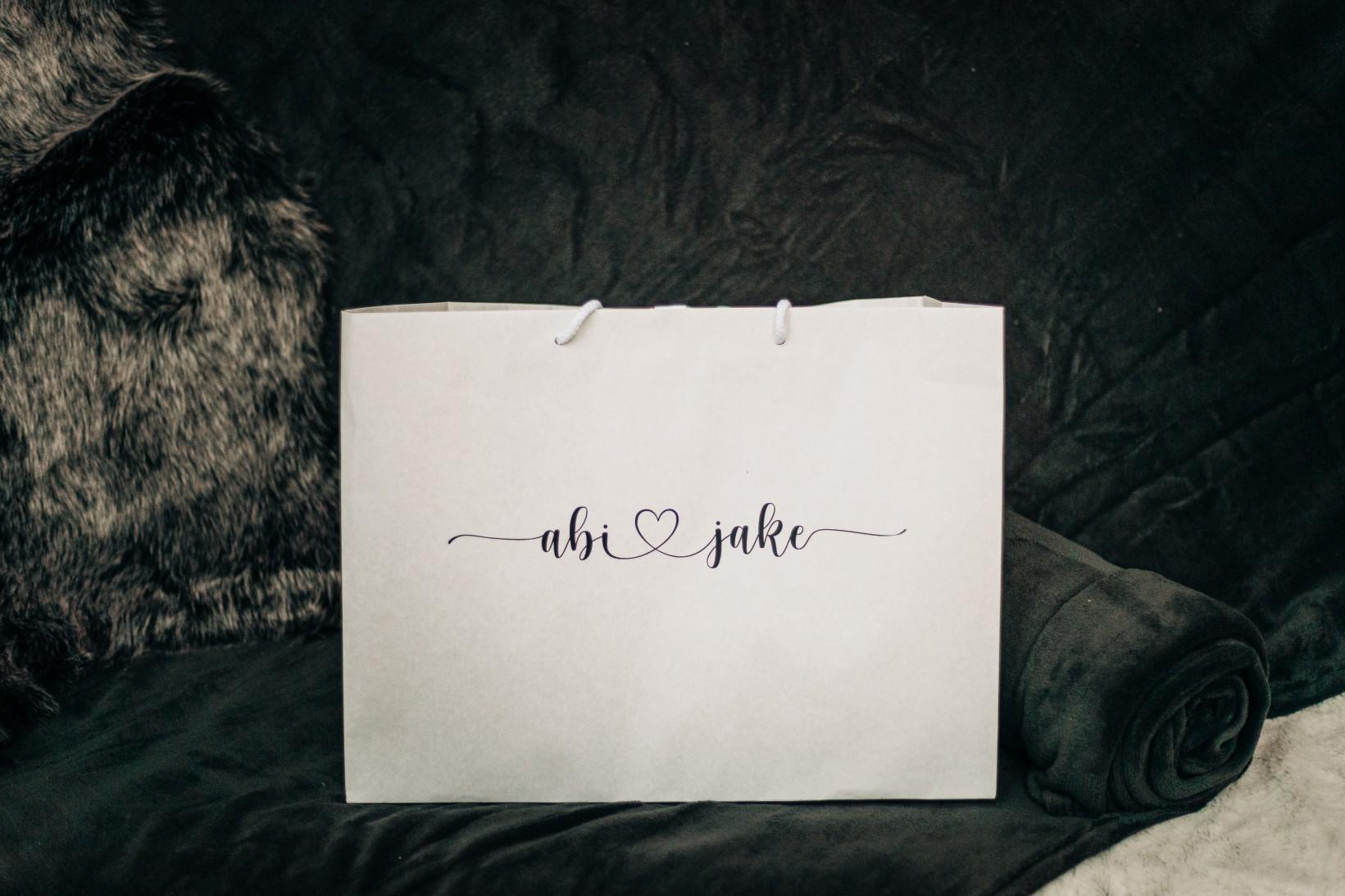personalised wedding gift bag