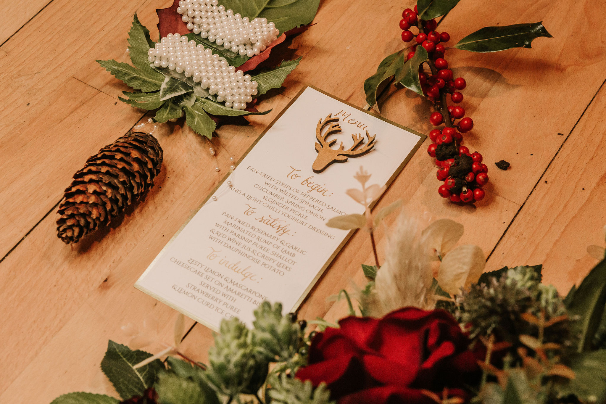 enchanting winter wedding - elegant wedding invitations