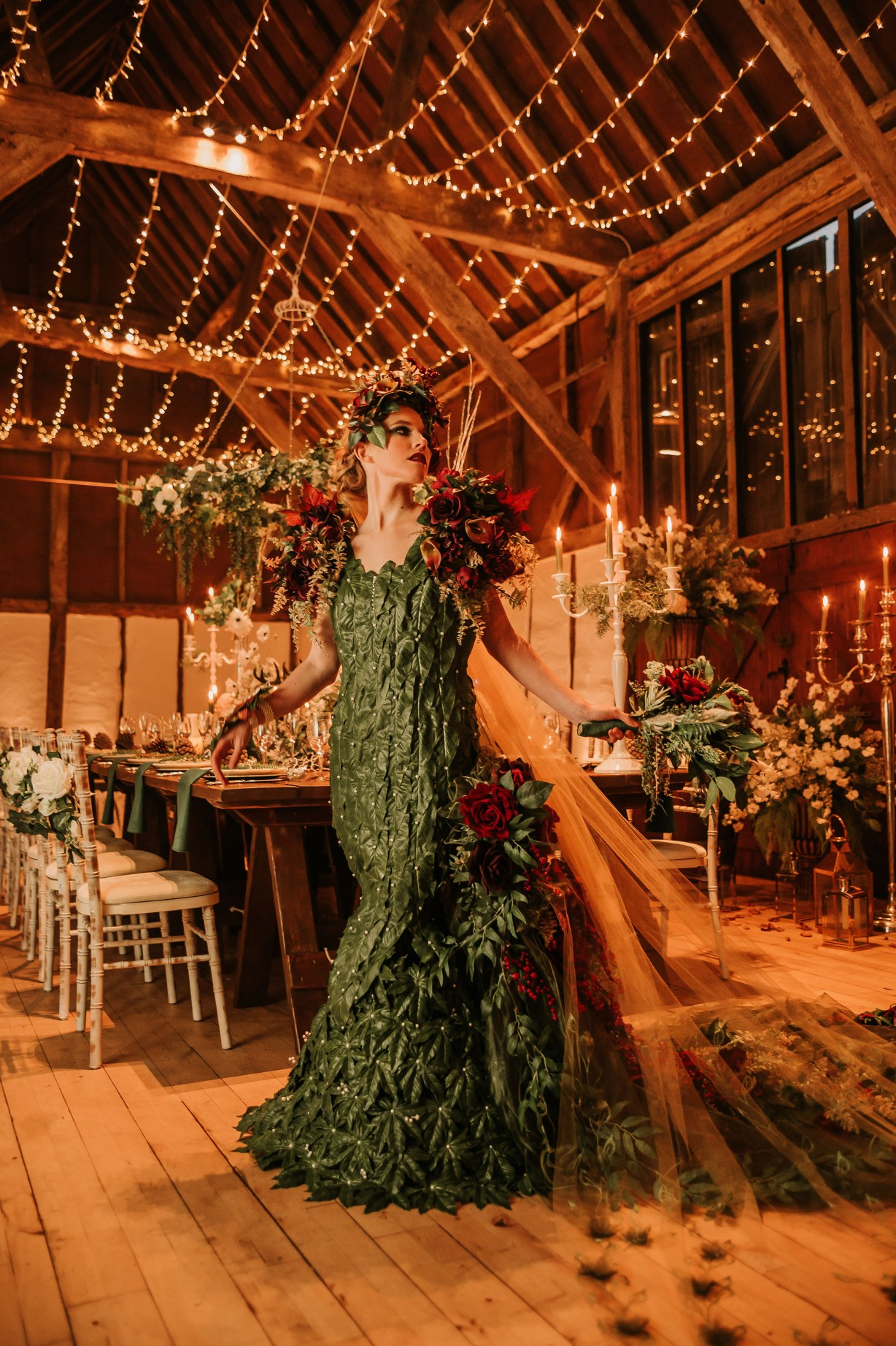 enchanting winter wedding - avant garde wedding dress - unique wedding ideas - alternative wedding wear