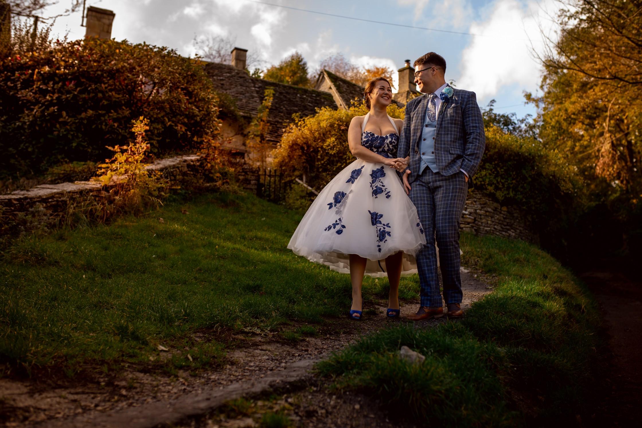 cotswolds wedding shoot - creative covid wedding - artistic wedding photos