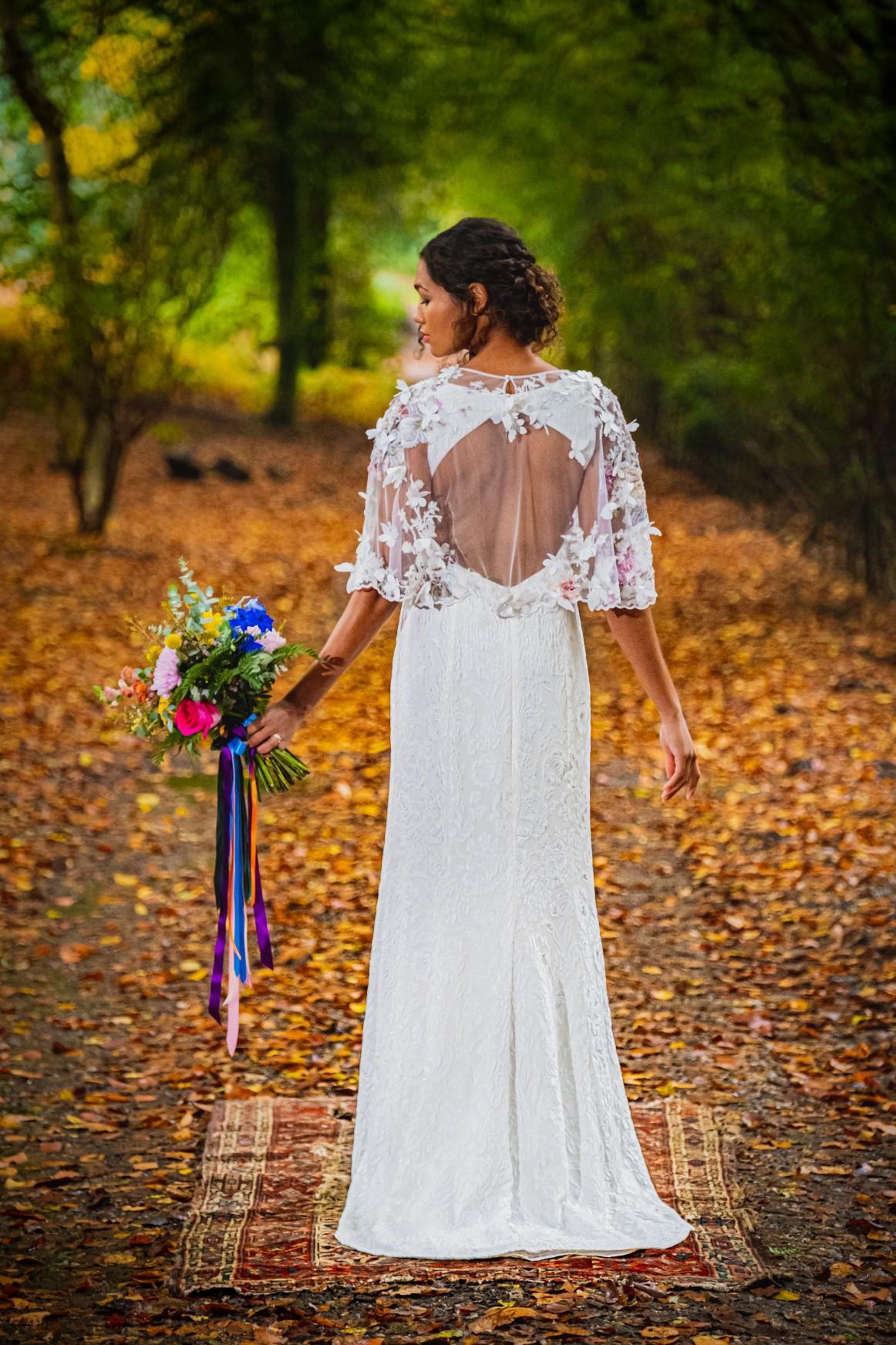 unique wedding dress - bespoke wedding dress - bohemian wedding dress - unconventional wedding - alternative wedding blog