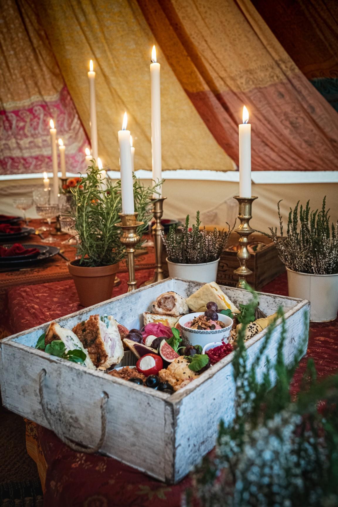 colourful micro wedding at patricks barn - wedding grazing table - wedding picnic - small wedding ideas
