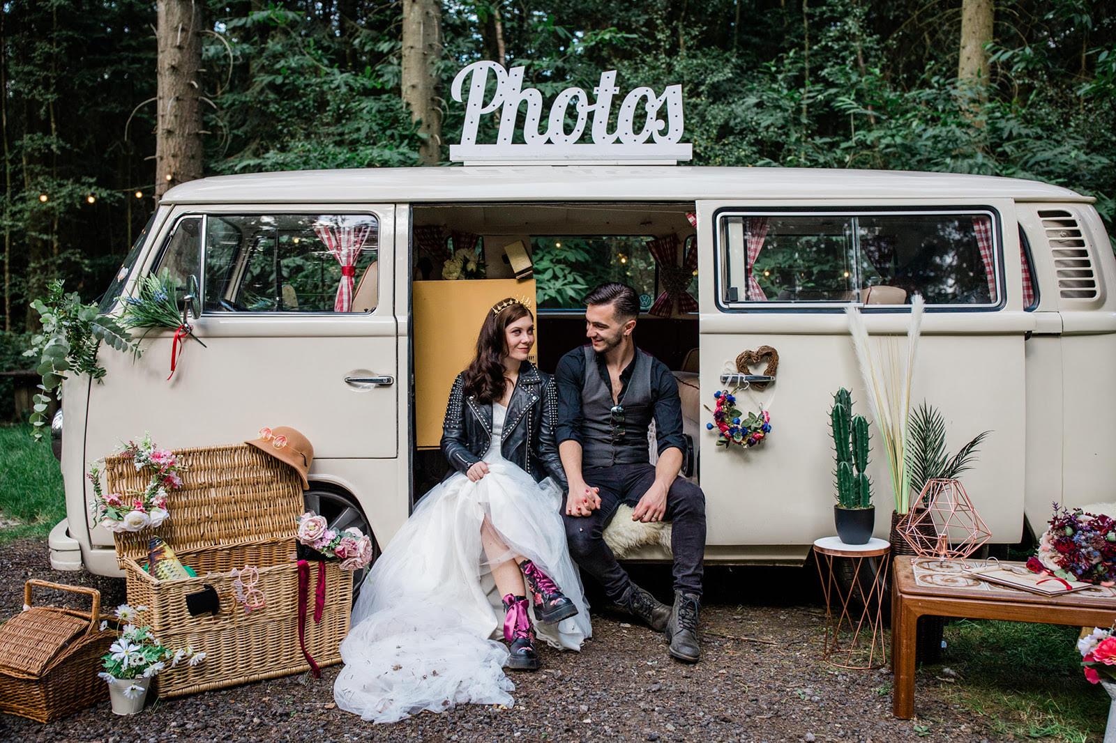 unique wedding photo booths - camper van photo booth - unique wedding campervan - camper van wedding - unique wedding - alternative wedding - unconventional wedding