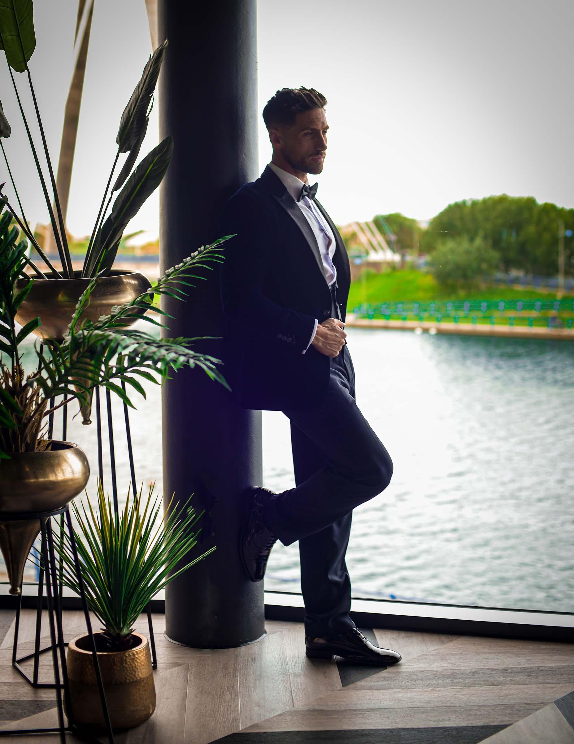 alternative luxe wedding - slytherin wedding - gothic wedding - alternative wedding - purple wedding suit - alternative groomswear
