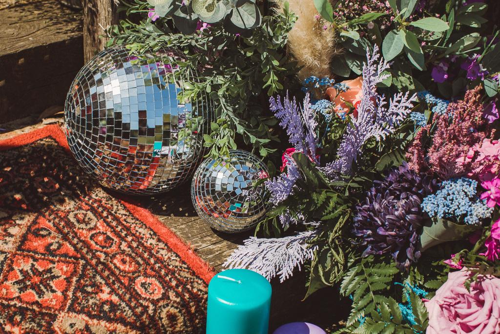 colourful wedding flowers - alternative wedding flowers - festival wedding flowers - unique wedding decor - alternative wedding -quirky wedding decor - unconventional wedding