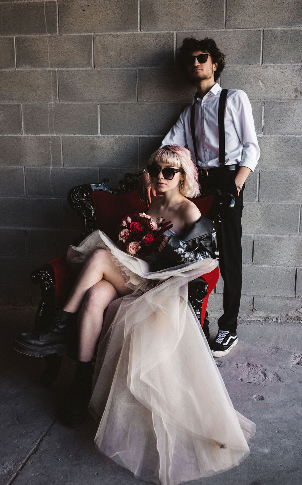 modern industrial wedding - alternative wedding - unconventional wedding - edgy wedding - cool wedding