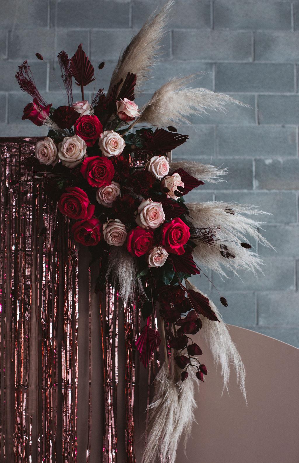 modern industrial wedding - alternative wedding - edgy wedding - unique wedding flowers - unique wedding decor