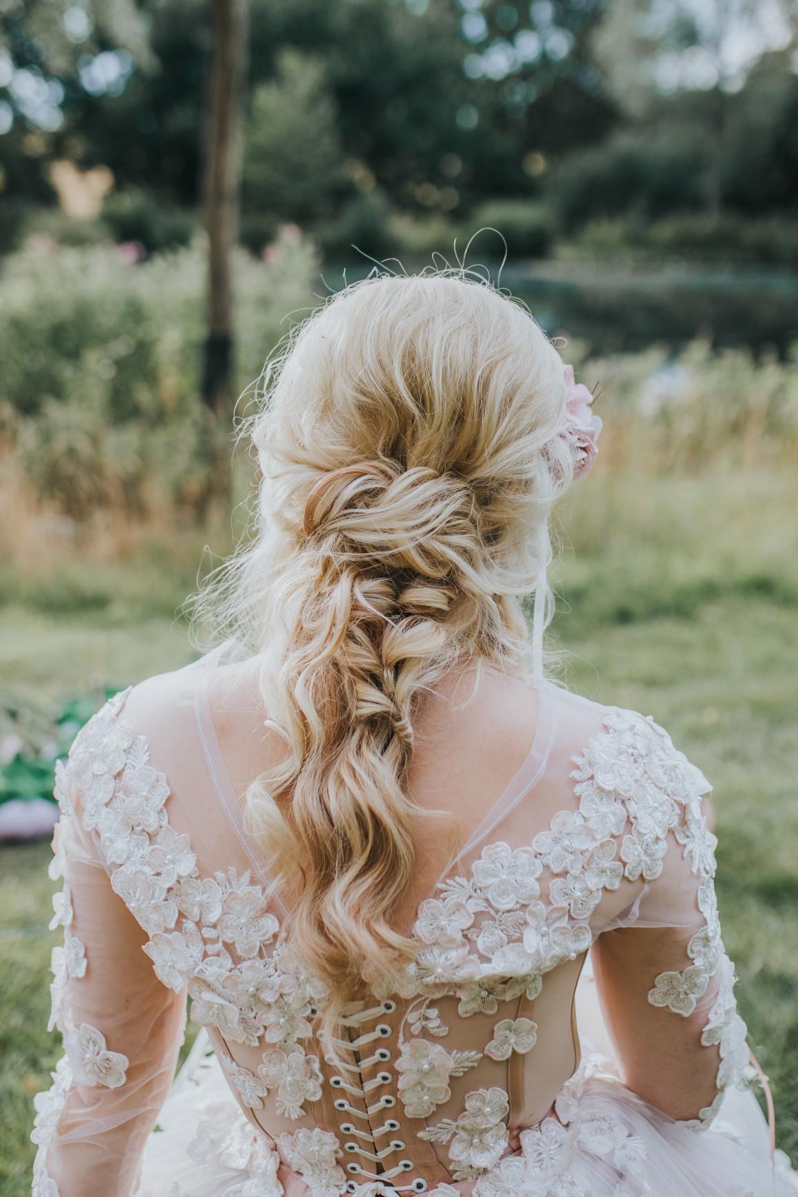 fairy wedding - whimsical wedding - magical wedding - elegant wedding dress - elegant bridal hair