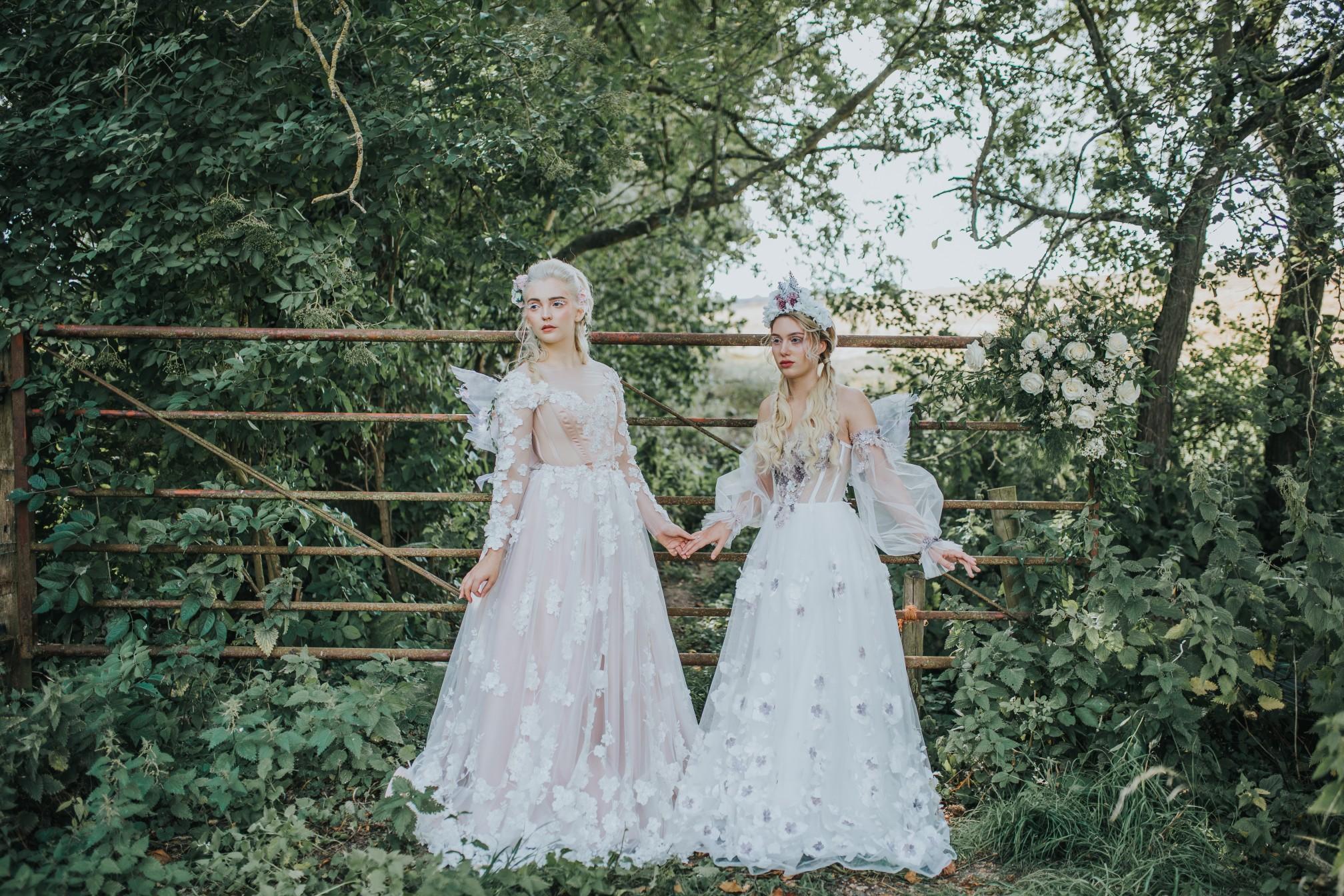 fairy wedding - whimsical wedding - magical wedding - elegant wedding dress - detailed wedding dresses