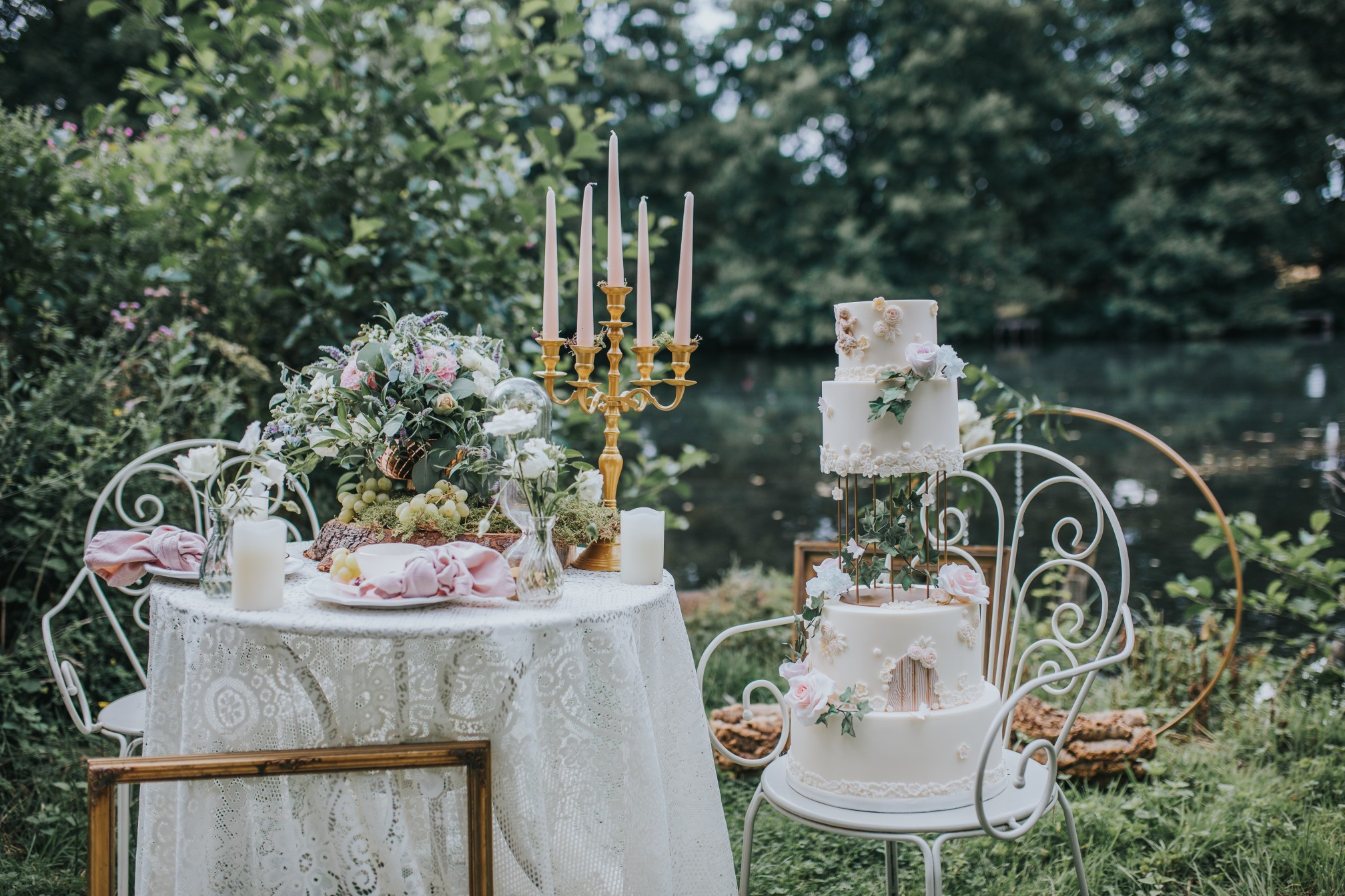 fairy wedding - whimsical wedding - magical wedding - vintage wedding decor - floating tier wedding cake - whimsical wedding decor