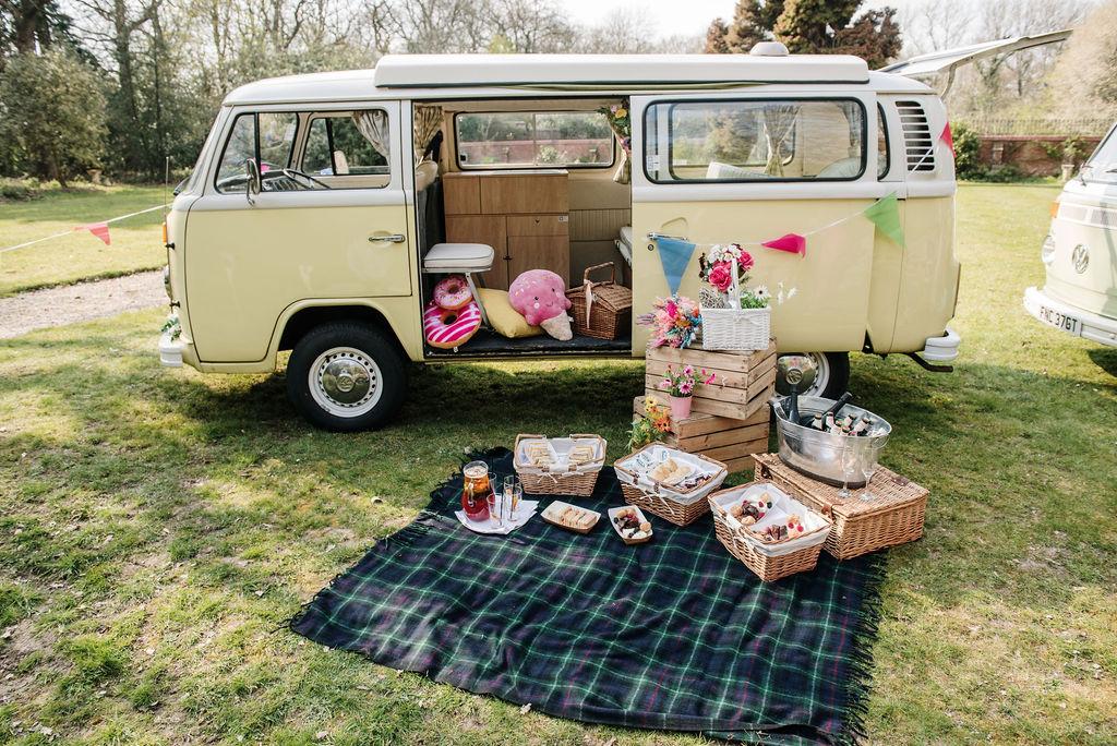 camper van wedding - wedding picnic - micro wedding ideas - small wedding ideas