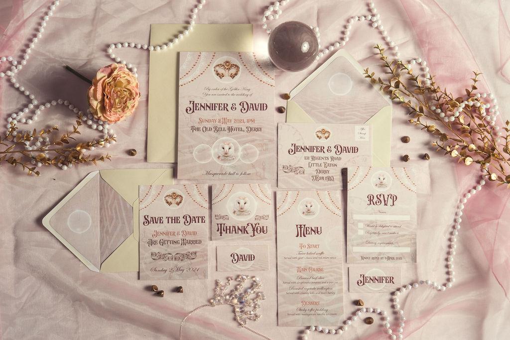 Wedding stationery for Labyrinth themed wedding by Doodah designs - alternative wedding stationery - unique wedding invitations