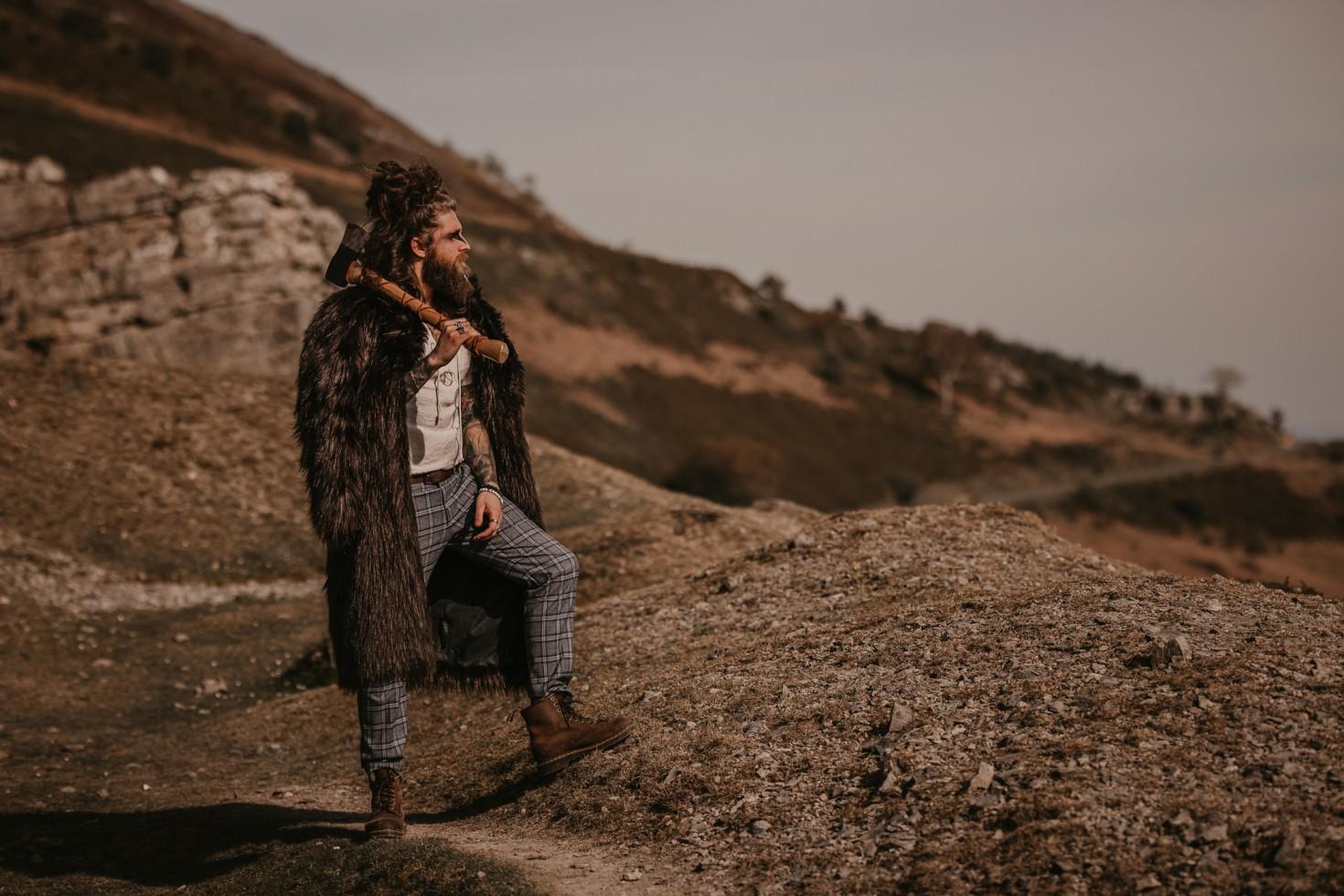 viking wedding - alternative groom - alternative groomswear - unique grooms wear - viking groom