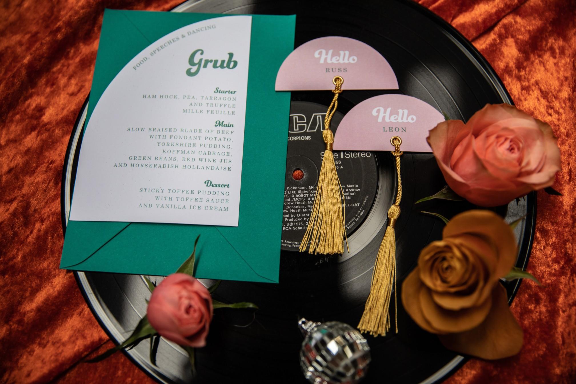 70s wedding stationery - retro wedding invitations - 70s wedding - unique wedding stationery - 70s wedding theme