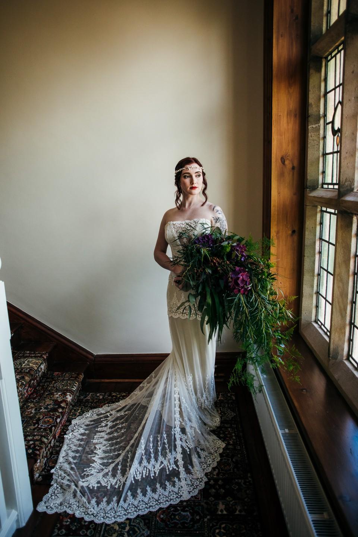 peaky blinders wedding - vintage wedding - 1920s wedding - themed wedding inspiration - vintage wedding dress - 1920s wedding dress - lace wedding dress