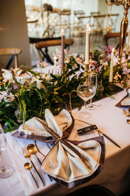 vintage wedding styling - vintage wedding table styling - vintage wedding napkins - 1920s wedding style