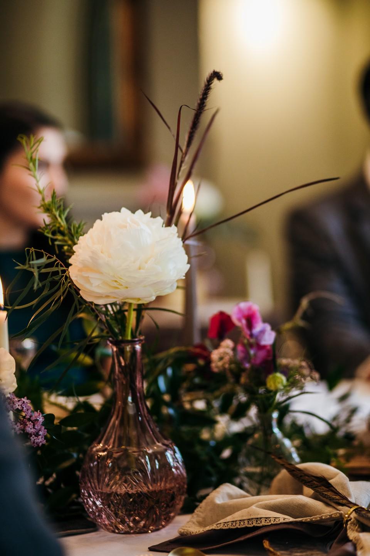 unique wedding flowers - wedding table decor ideas - eclectic wedding vases