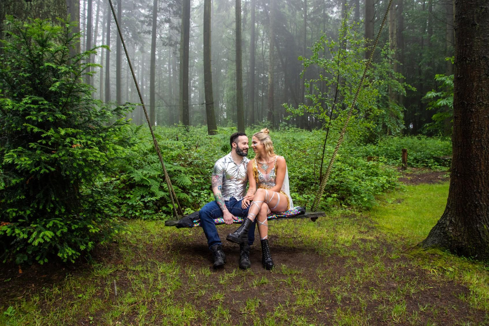 woodland wedding - festival wedding - nature wedding - festival woodland wedding