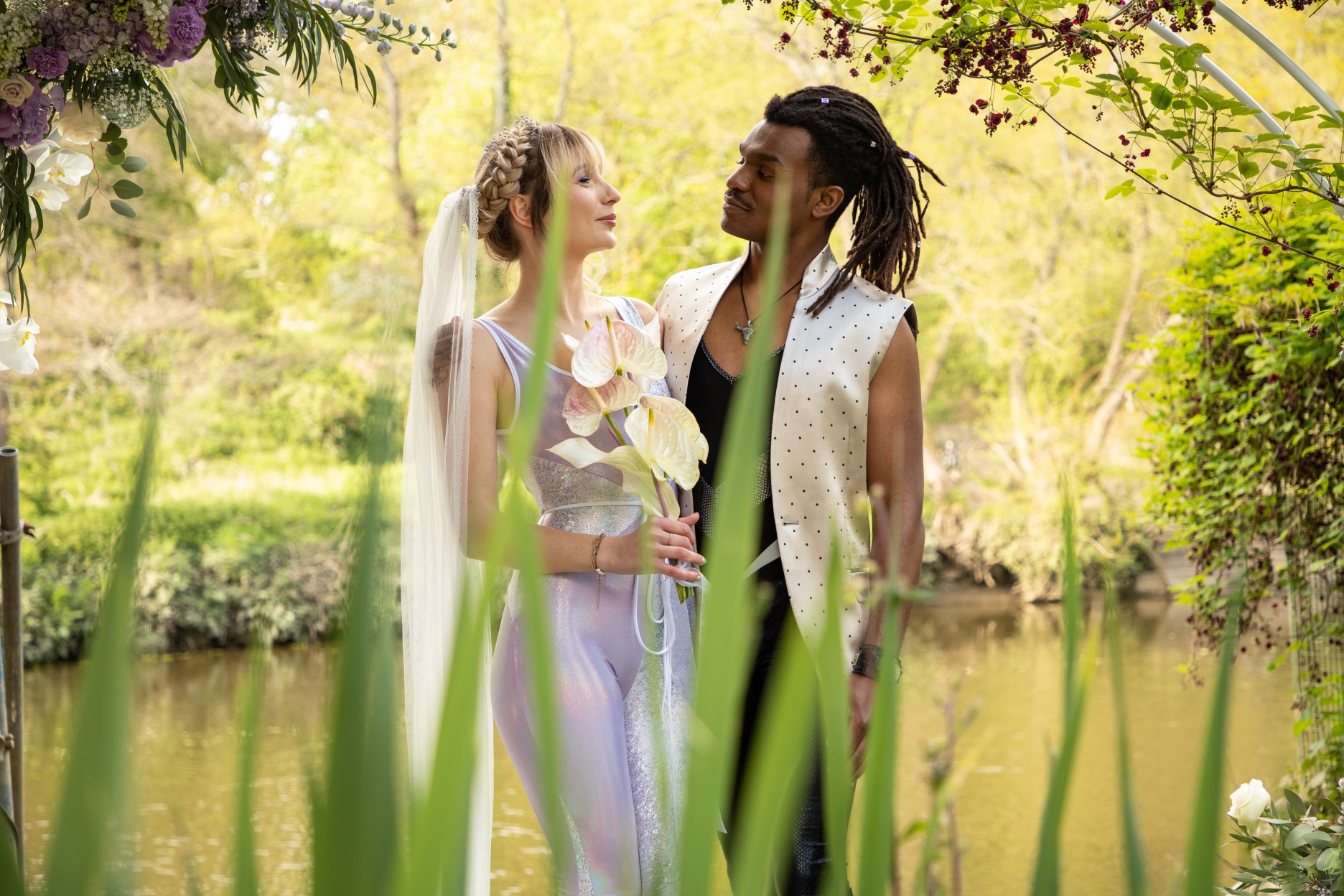 outdoor wedding inspiration - modern festival wedding - unique wedding wear - wedding jumpsuit - wedding catsuit - festival bride - unique wedding wear - creative wedding photography