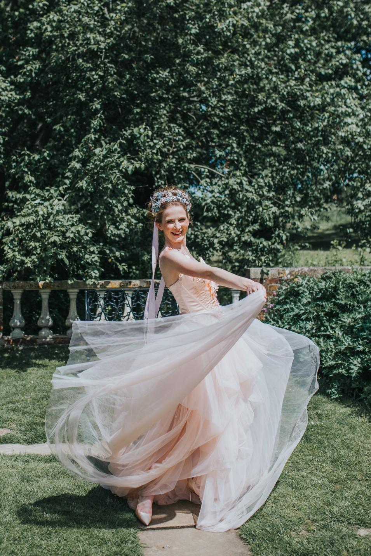 bridgerton wedding - regency wedding - whimsical wedding - peach wedding dress - unique wedding dress - unique bridal wear