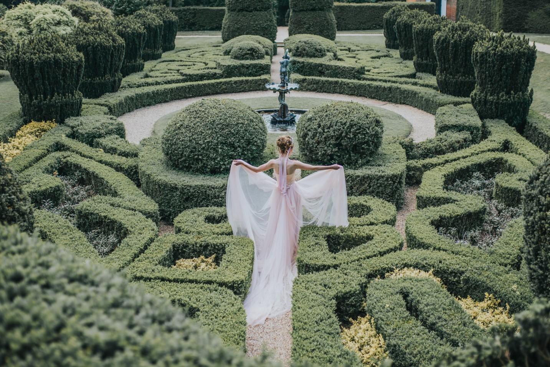 bridgerton wedding - regency wedding - elegant wedding dress - long train wedding dress - princess wedding dress
