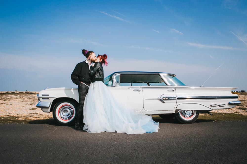 Road trip wedding inspiration - alternative elopement - micro wedding inspiration - wedding chevvy