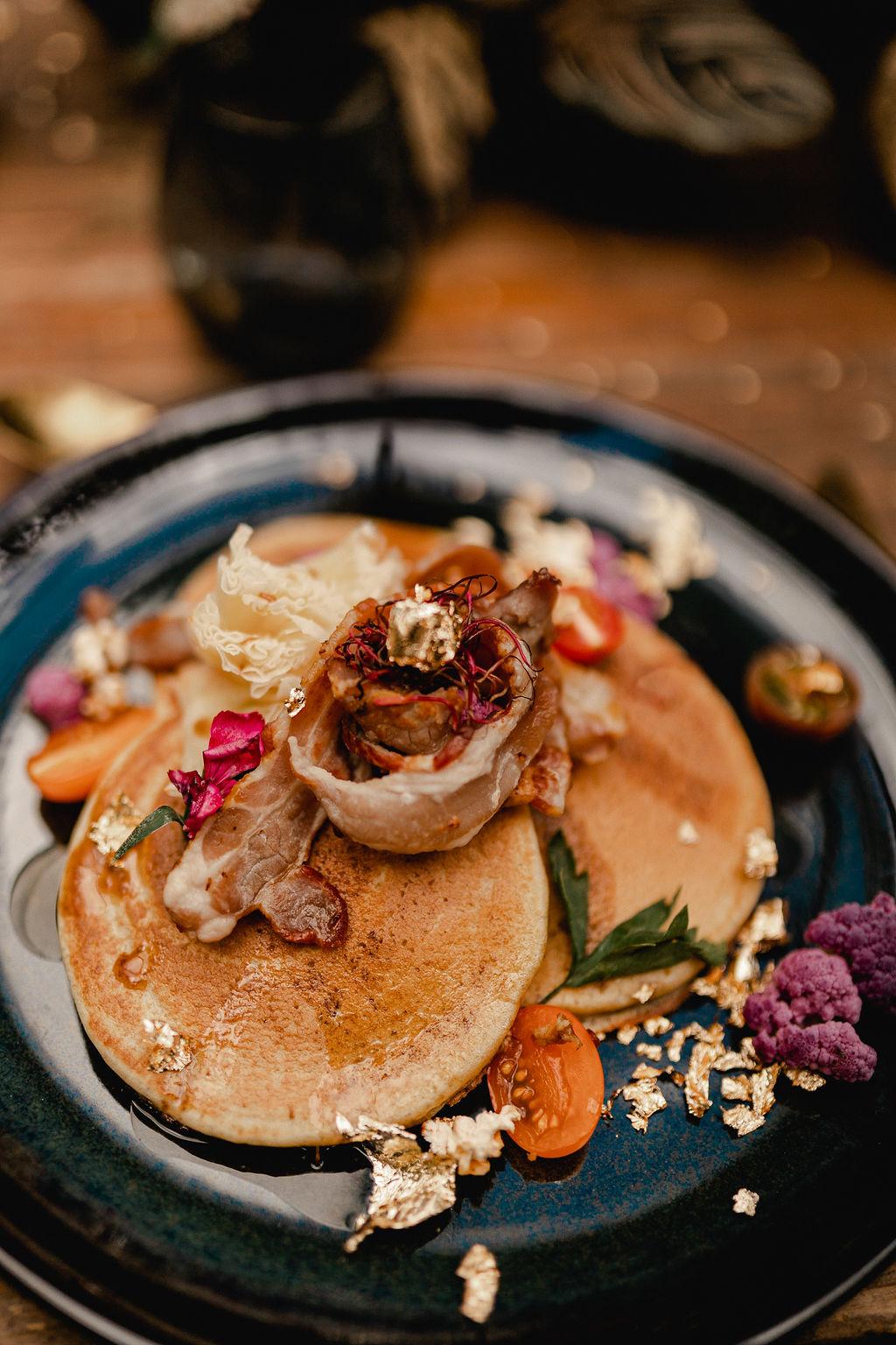 wedding pancakes - gourmet pancakes - unique wedding desserts - wedding dessert table