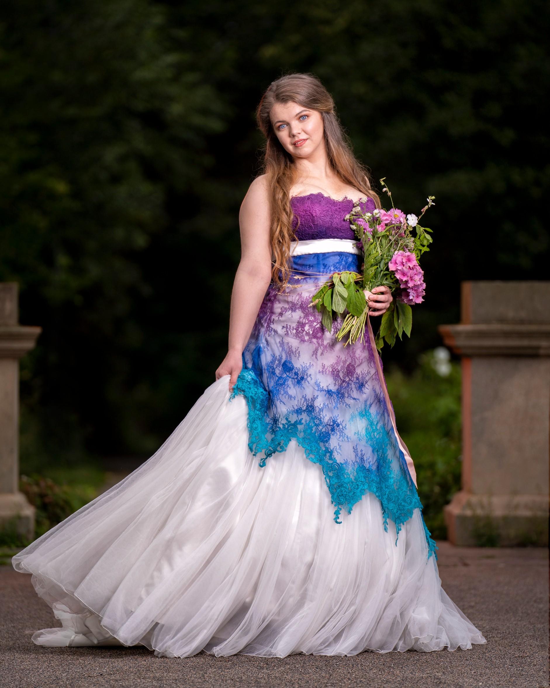 Corsetry and Couture - alternative bridal wear - unique wedding dresses - bespoke wedding dress uk - coloured wedding dress